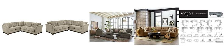 Elliot Fabric Microfiber 2-Piece Sectional Sofa: Custom Colors