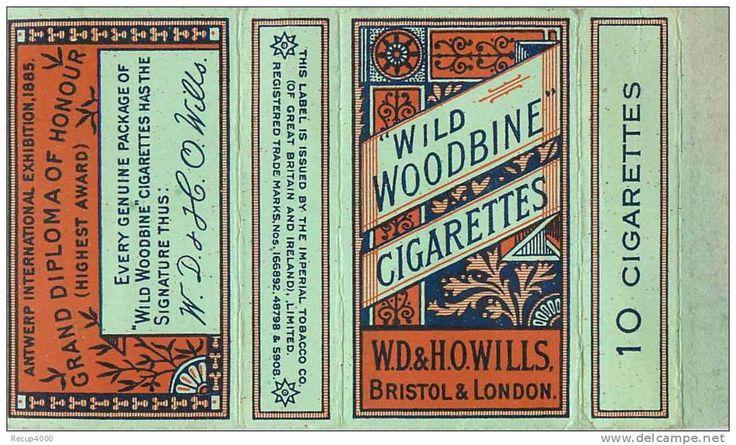 woodbine cigarette packet