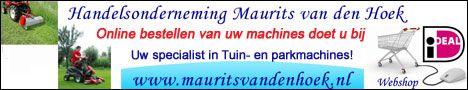 Banner veranderd voor Handelsonderneming Maurits van den Hoek. Handelsonderneming Maurits van den Hoek heeft tegenwoordig ook een webshop. Handelsonderneming Maurits van den Hoek is gespecialiseerd in in- en verkoop van tuin- en parkmachines en aanverwante artikelen. Tevens verrichten zij reparaties, onderhoud en revisie in hun eigen werkplaats. http://koopplein.nl/middendrenthe/gebruikers/91713/handelsonderneming-maurits-van-den-hoek