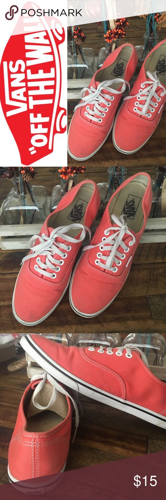 🔆Vans Vans-Soft Peach or Soft Orange if you prefer! In good shape & clean jus couple slight scuffs on the soles. Size 10 ladies or 8.5 men's Vans Shoes Sneakers