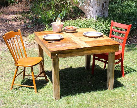 A great kitchen prep table or as a dining table for a small area.