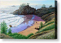Oregon Coast-Little Cove Canvas Print by Paul Krapf