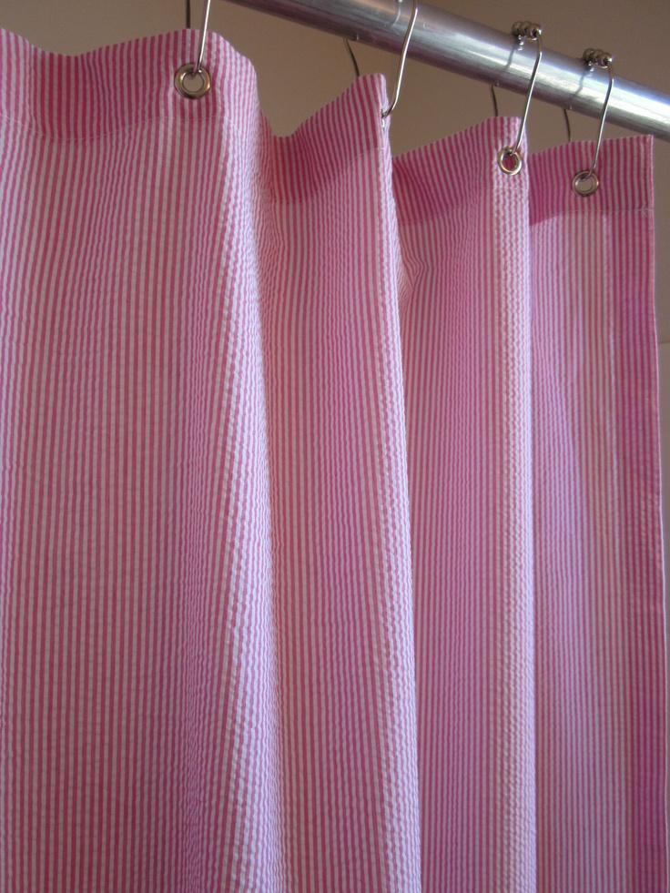 Striped Seersucker Shower Curtains For The Home Pinterest Seersucker