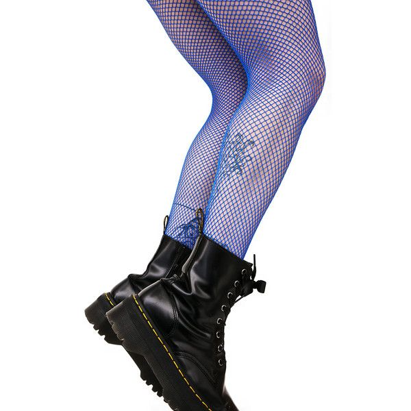 Blue Fishnets ($8) ❤ liked on Polyvore featuring intimates, hosiery, tights, leg avenue, blue fishnet stockings, blue tights, blue stockings and fishnet tights