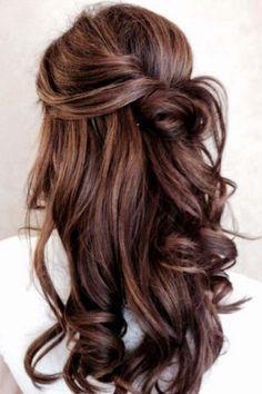 bridesmaids hair half up half down - Google Search