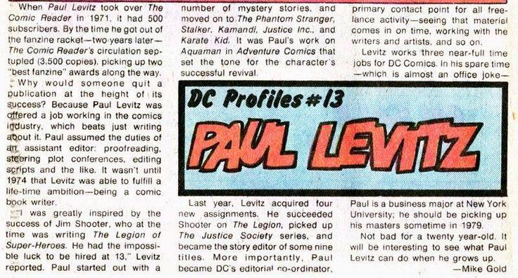 · October 21, 2015 ·     Happy Birthday, Paul Levitz!!
