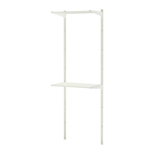 IKEA ALGOT Wall upright/shelves/drying rack White 65x40x196 cm The parts in the ALGOT series can be combined in many different ways and so can easily be ...