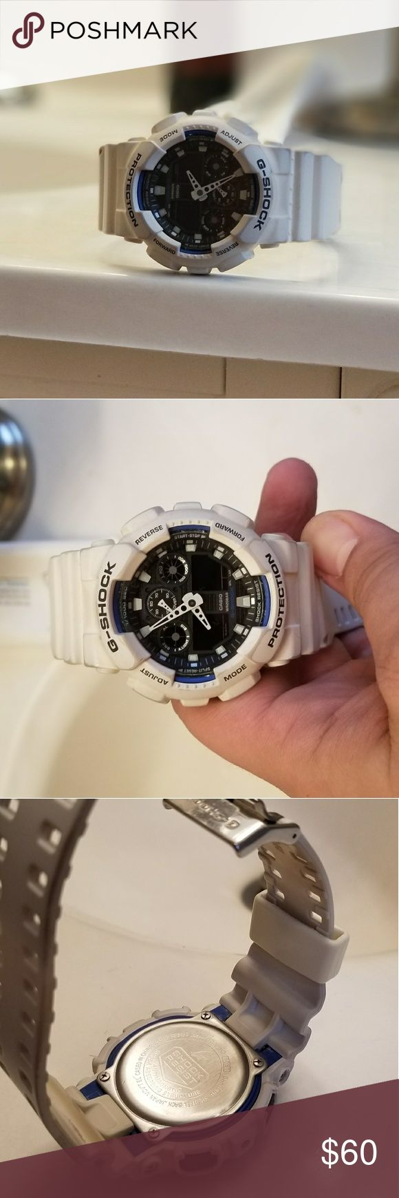 G Shock watch White G Shock watch.  Limited edition. Currently on Amazon for $140. At this price it's sure to sell quickly.  Battery just died and needs to be replaced. G-Shock Other