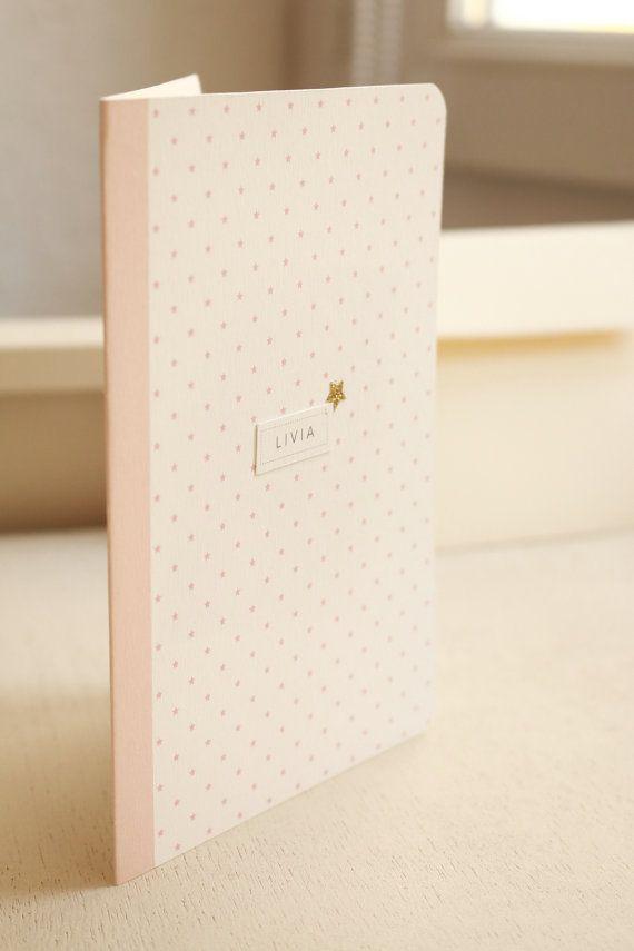 Fairepart de naissance Etoiles rose poudré par MinusculeDesignPaper