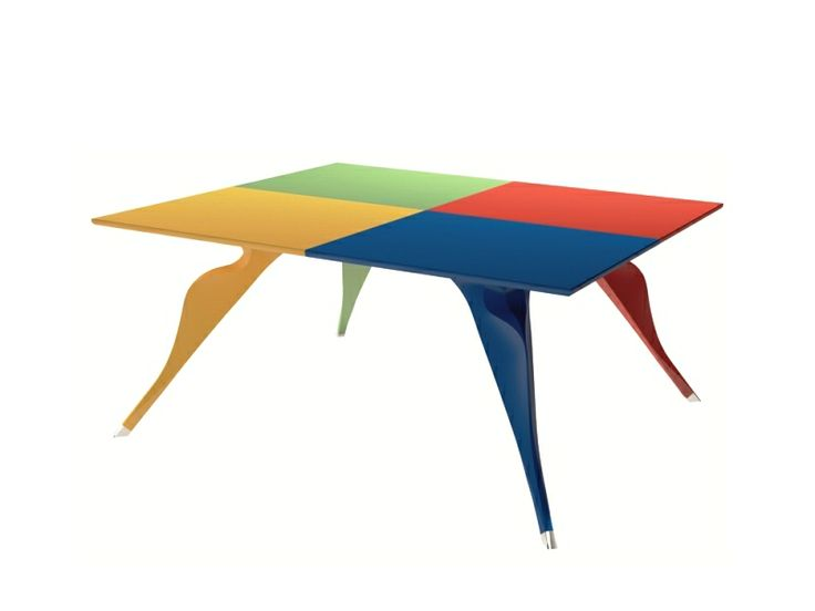 MACAONE Dining Table by Alessandro Mendini from the Italian manufacturer ZANOTTA (Limited Edition, 1985) @Zanotta  http://www.design-fair.com/macaone-dining-table-by-alessandro-mendini-from-the-italian-manufacturer-zanotta-limited-edition-1985/  #Design #ModernStyle #PopArt #Furniture #DiningRooms #DiningTables #AlessandroMendini #AtelierMendini #ZANOTTA #Italy #Italian