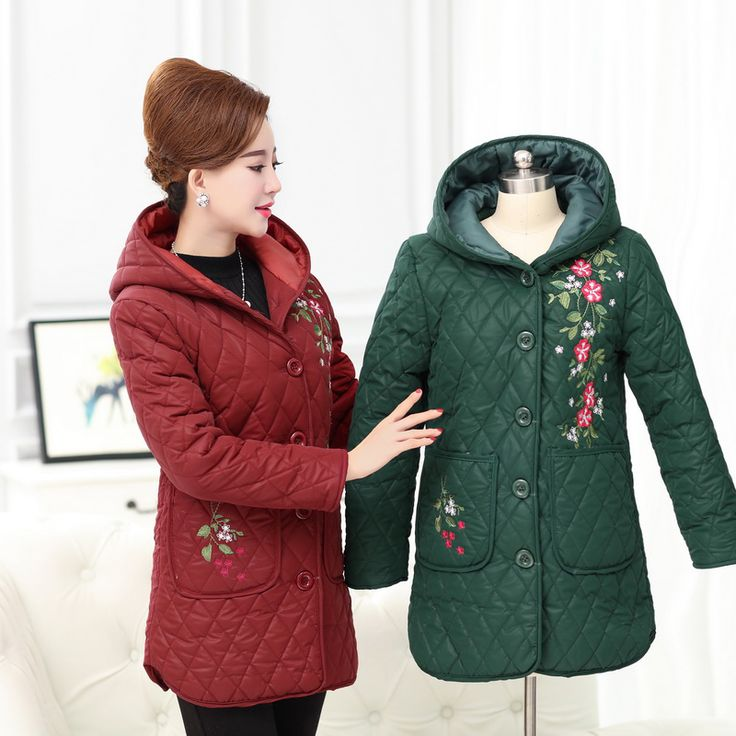 Embroidery hoodie wool liner thick women winter long Parkas Plus size 2017 solid color 4XL casual Slim ladies coat jackets