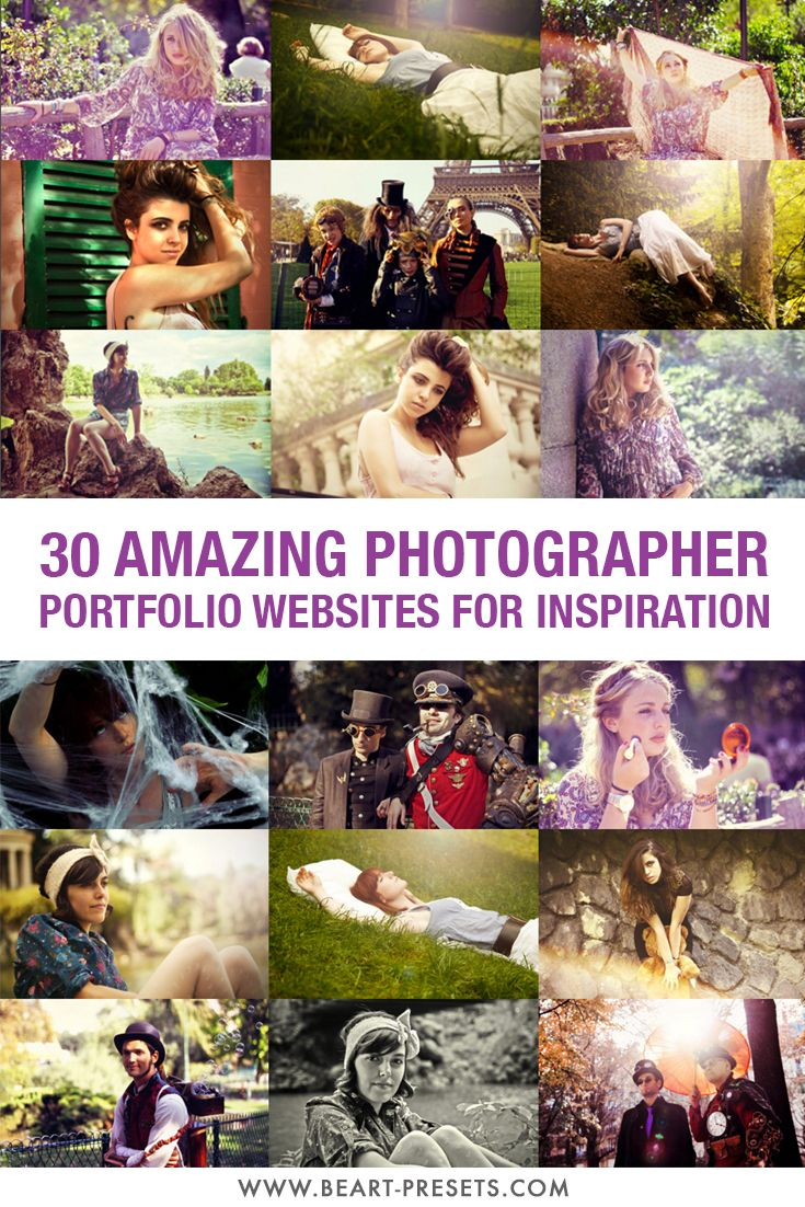 To provide you with some inspiration for the upcoming weekend, we want to introduce you some of the best photographers around the world and their amazing portfolios. If you want to take really memorable photographs, you can learn something by studying the photographs of the best photographers. Here's 30 great photographers you should know. All the photos are linked to photographer's portfolio website. We hope you'll get the inspiration from their work.
