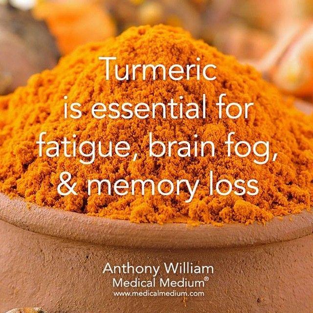 Turmeric is essential for fatigue brain fog & memory loss by medicalmedium