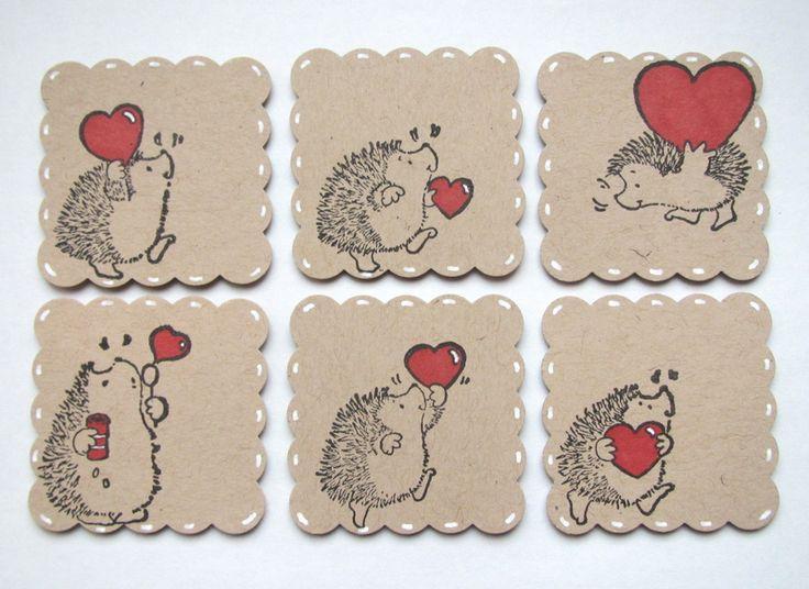 Étiquettes #herisson pleines d'amour pour décorer vos cadeaux
