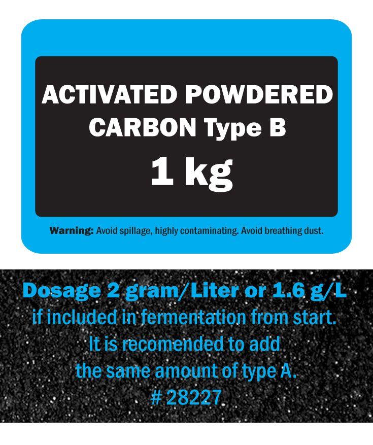"""Aktivt kolpulver. Blandas vanligen 50/50 med typ A för max effekt. Samma kol som vi har i vår produkt """"Flytande aktivt kol"""" som är en 50/50 blandning av dessa kolsorter slammade i destillerat vatten."""