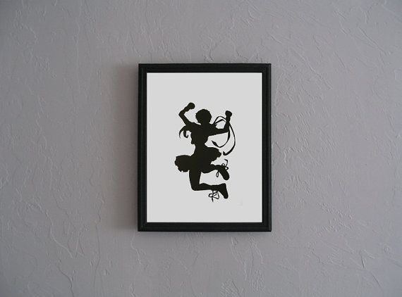 Sakura Street Fighter  Hand Cut black silhouette by CuttingPixels, $27.00