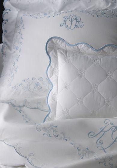 Léron Linens | Custom Bespoke Embroidered Bed Linens | Summer