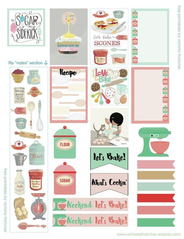 FREE Baking Theme Planner by Victoria Thatcher