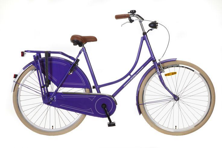 .Bicicleta holandesa Omafiets morada