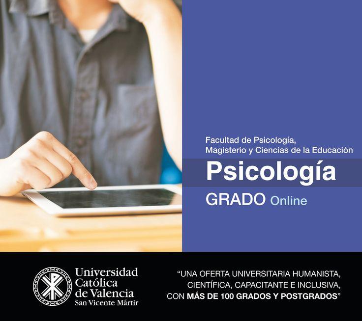 #Grado en #Psicología #online de la UCV. #CercaníaUCV #TuGradoUCV