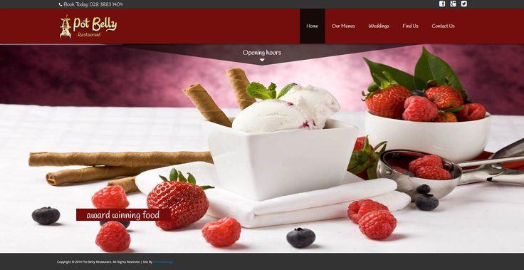 Pot Belly Restaurant - three60design Banbridge Northern Ireland - Web Design