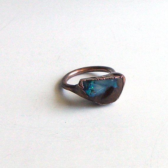 Opal Ring Gemstone Ring Birthstone Ring Stone Ring October Natural Raw Mineral Artisan