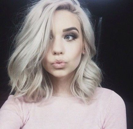 25 Stunning Hairstyles for Medium Hair - #hair #trends #hairstyles - trendynesia.com                                                                                                                                                                                 More