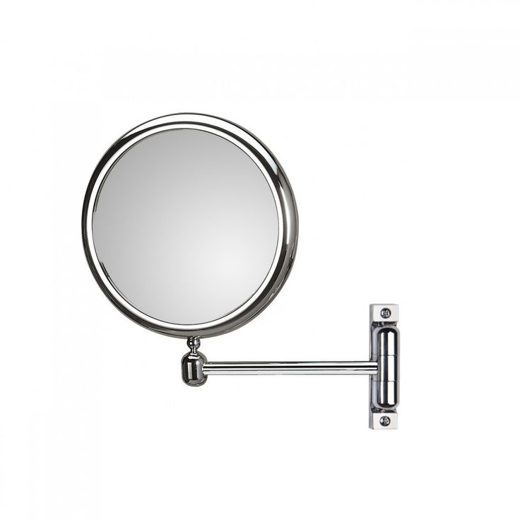 Beautiful Modern High End Designer Wall Mounted Double Sided Bathroom Magnifying Mirror Made Of Chrome