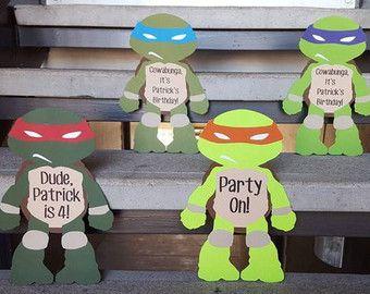 Pinterestteki 25den fazla en iyi Ninja turtle invitations fikri