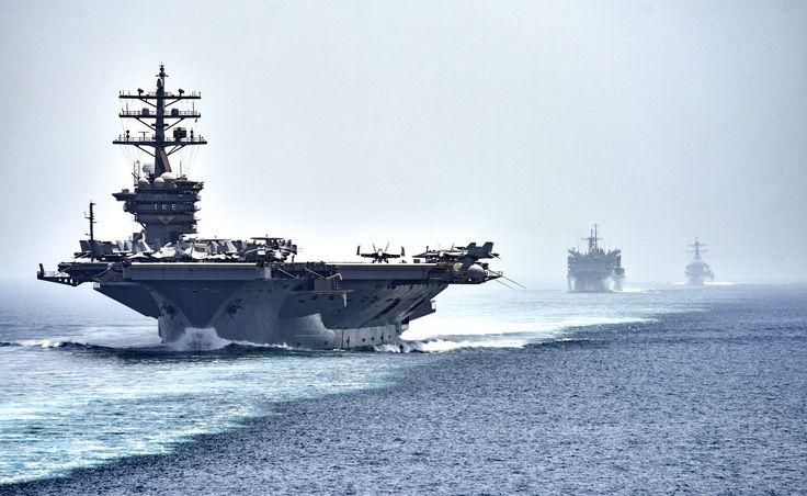 STRAIT OF HORMUZ (July 21, 2016) The aircraft carrier USS Dwight D. Eisenhower…