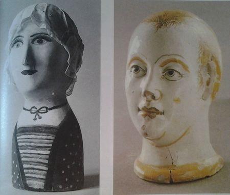 Portes-coiffe dit marotte, objets d'art polulaire  Musée du vieux Reims, Musée de sévres