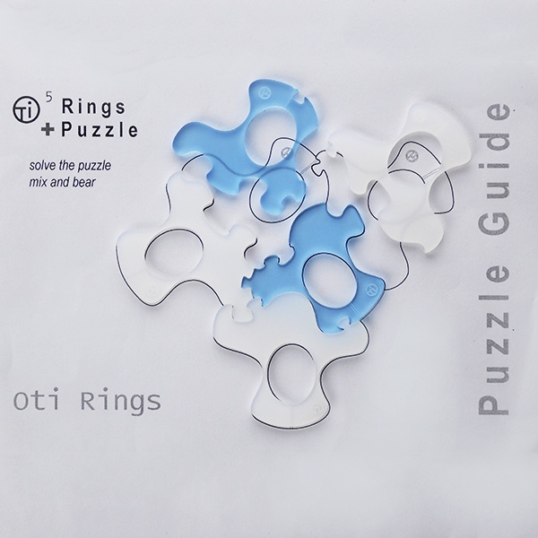 Antarctic Ice (color combi) 5 puzzle rings by E. Georgakopoulos, 2012.