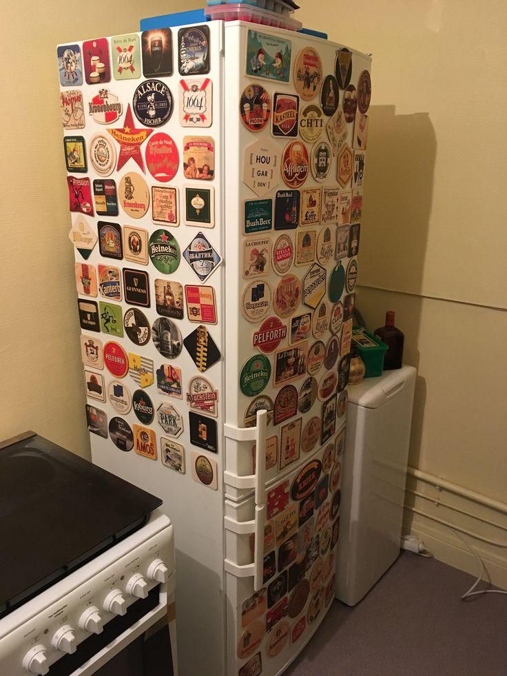 Décoration frigo en sous-bock