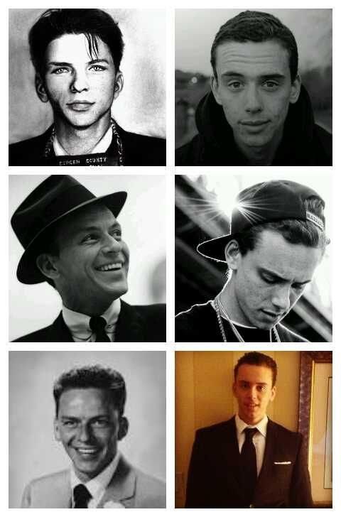 """young-broke-and-infamous: """"infamousstateofmind: """" Is it me or is it crazy how much logic really looks like Frank Sinatra """" young sinatra """""""
