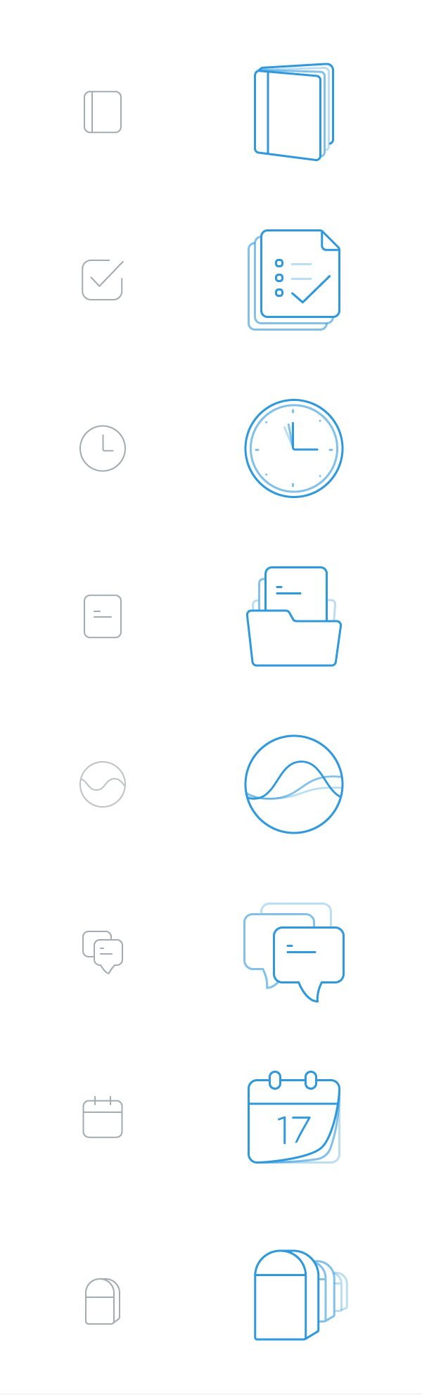 Line icons on Behance
