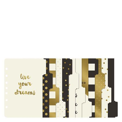 Gold Planner Love Tab Dividers - FranklinCovey [ Franklin Covey & My Mind's Eye Collaboration]