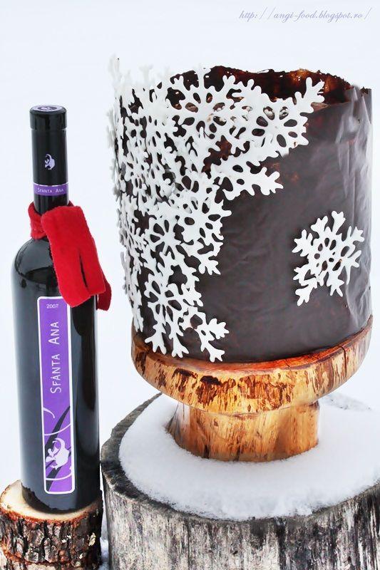Angel's food: Tort ciocolatos de iarna...for my birthday:-)