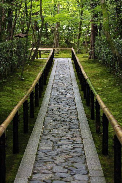 Beautiful path, Daitoku-ji temple, Koto-in Zen Temple, Kyoto, Japan