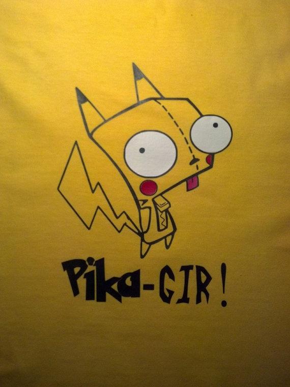 Pokemon Pikachu and Invader Zim GIR Inspired by JustAnAwesomeMom, $10.00