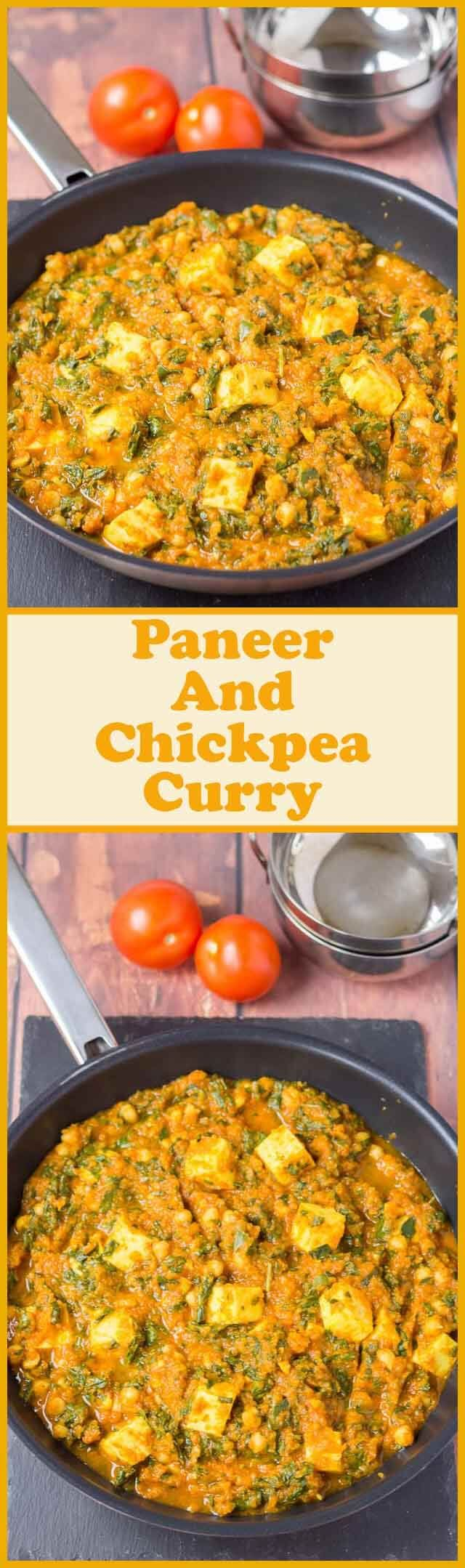 This vegetarian paneer and chickpea curry is not only healthy and easy to make, but it's incredibly low cost too. Tinned tomatoes, tinned chickpeas and a selection of store cupboard spices combined with paneer cheese make a deliciously mild family curry for four! via @neilhealthymeal