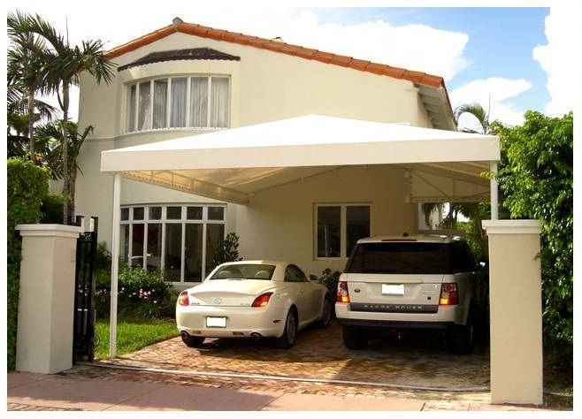 Canvas Carport Canopy : Miami canopies and double carport on pinterest