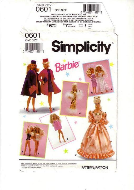 299 best sy barbieklær images on Pinterest | Barbie doll, Sewing ...