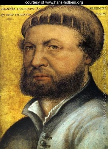 Hans Holbein, the younger (1497-1543) Self-portrait, ca. 1542. An all around German Renaissance artist, painter, draughtsman and book illustrator. Designer of furniture and costumes, creator of stained glass. Son of the late Gothic painter, Hans Holbein, the Elder . Born in Augsburg.