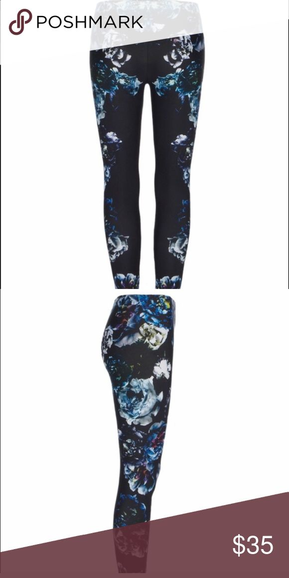 AllSaints Women's Black Peony Leggings - US 6 The photographically constructed print on the Peony Leggings has been digitally applied to create a highly defined finish. Inspiration from a combination of photographic and paint techniques, with images of a mixture of singular and bouquets of peonies, have been printed onto a brushed European jersey for increased enhancement. Parts of the flowers have been tinted with paint to add depth, and hues of pink and spring highlight the updated design…