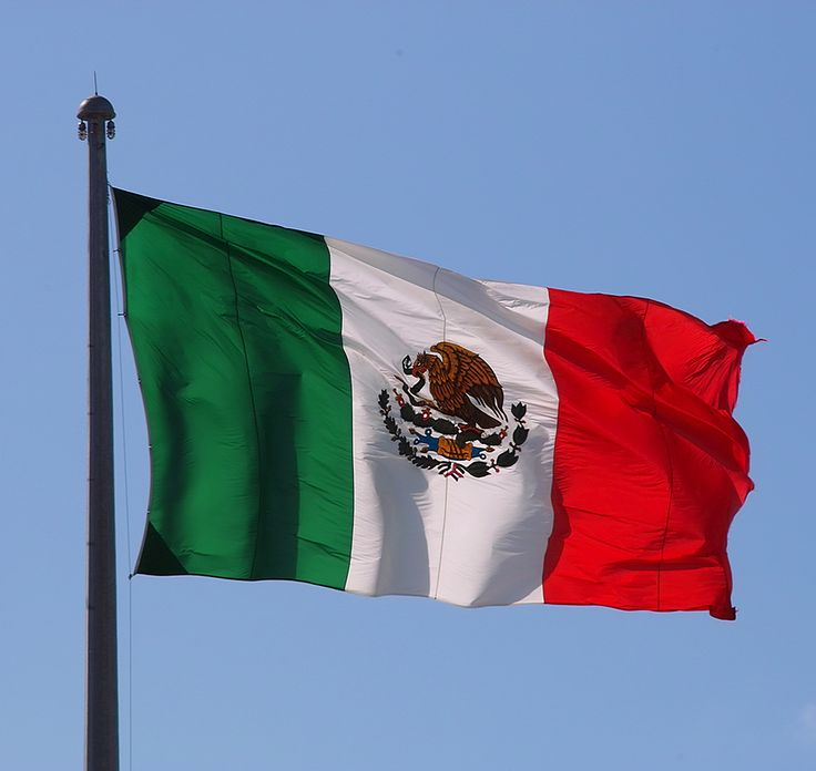 mexican and us flag