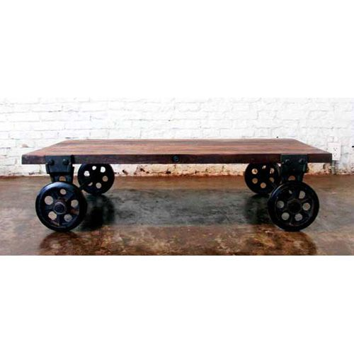 V33 Small Coffee Table With Reclaimed Wood Top By Nuevo   HGDA118