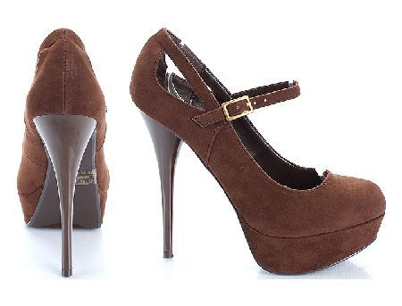 Qupid Shoes Neutral-02 Brown Brown suede shows with court design, round toe and chic side cut-outs in heel area. The 5 inch (12.5 cm) high heels in dark brown lengthens the legs for added sexiness, while the front platform with b http://www.MightGet.com/january-2017-12/qupid-shoes-neutral-02-brown.asp