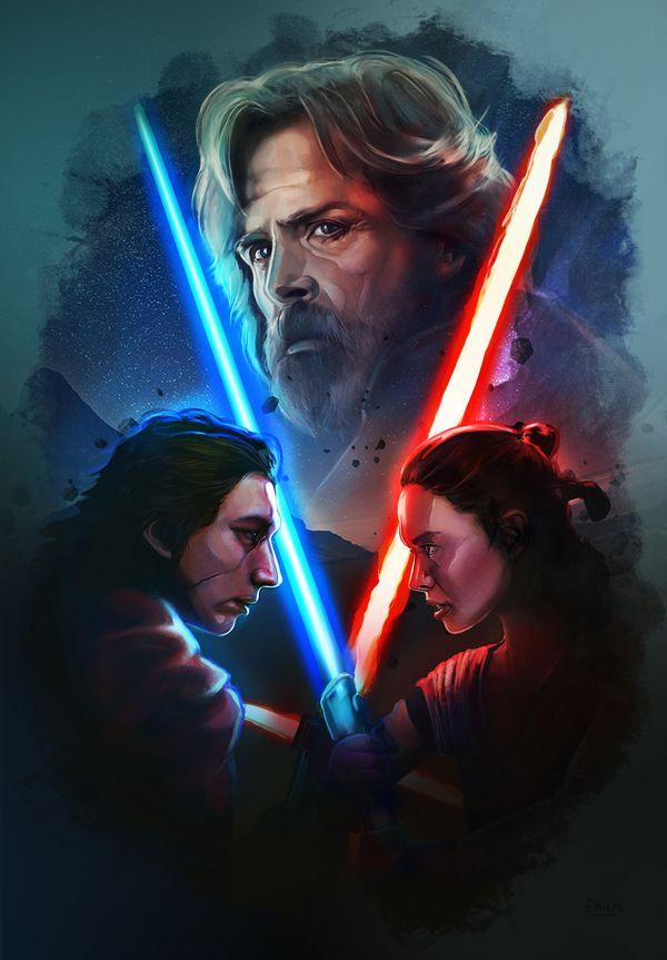 Amazing Illustration Of Star Wars The Last Jedi 1 Illustration Digitalart Posters Starwar Thelast Star Wars Painting Star Wars Poster Star Wars Wallpaper