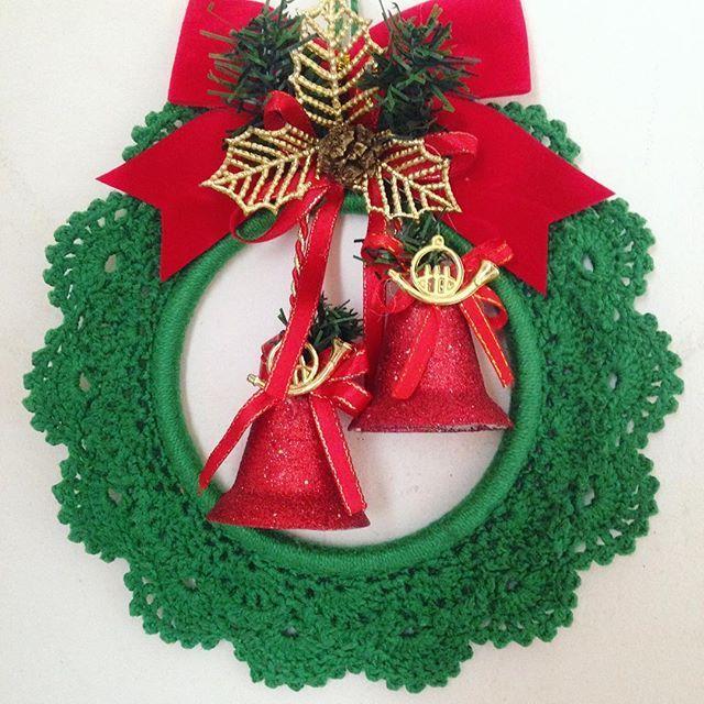 Bem vindo Dezembro!! #guirlandadecroche #croche #guirlanda #natal