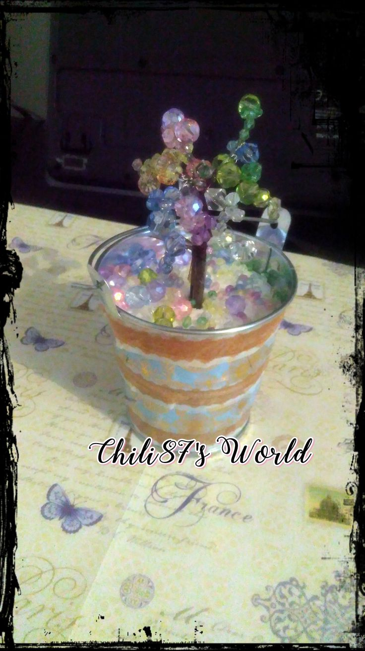 Tree from beads. pastell colours. *-* Inspired by Fairies.